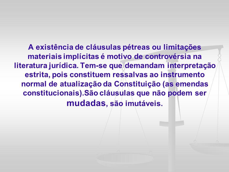 As cláusulas pétreas inseridas na Constituição da república Federativa do Brasil de 1988 encontram-se dispostas em seu artigo 60, § 4º.