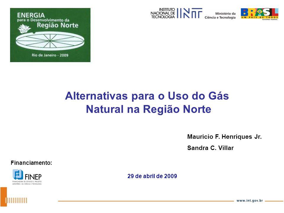 Alternativas para o Uso do Gás Natural na Região Norte Financiamento: Mauricio F. Henriques Jr. Sandra C. Villar 29 de abril de 2009