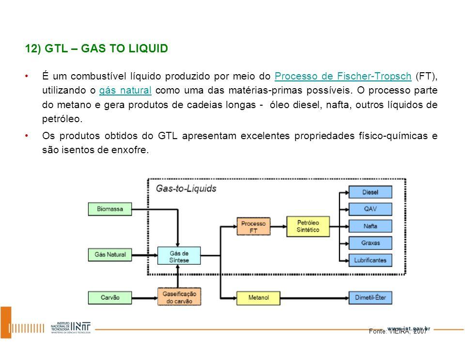 É um combustível líquido produzido por meio do Processo de Fischer-Tropsch (FT), utilizando o gás natural como uma das matérias-primas possíveis. O pr