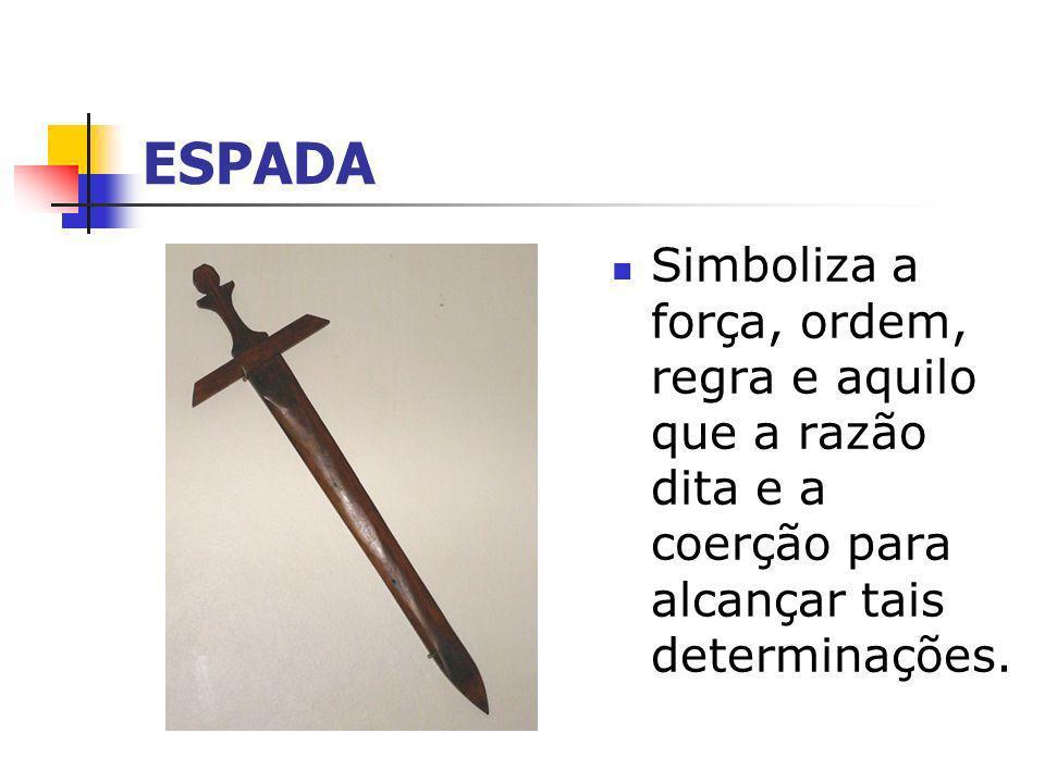 BALANÇA Simboliza a eqüidade, o equilíbrio, a ponderação, a igualdade das decisões aplicadas pela lei
