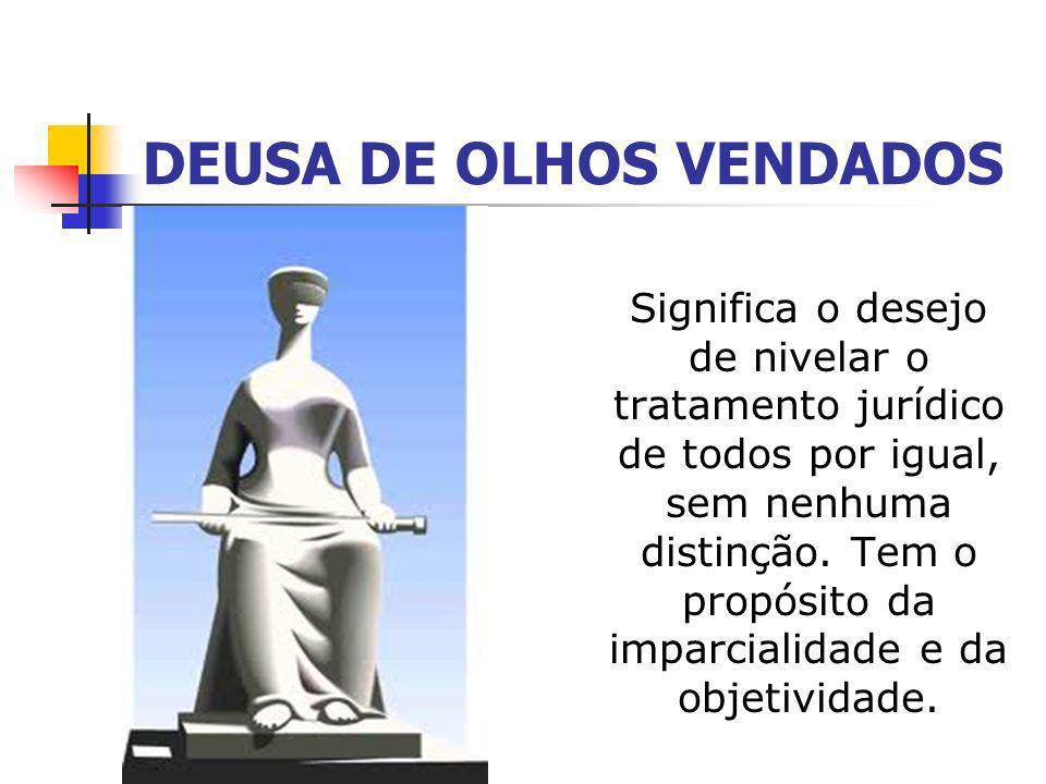 Deusa de Olhos Abertos P ode ser interpretada como a necessidade de não deixar que nenhum pormenor relevante para a aplicação da lei seja desconsiderado, avaliar o julgamento de todos os ângulos.