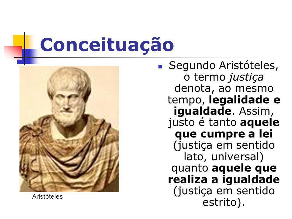 Conceituação Já Platão entendia que a justiça como um dos bens mais importantes para o homem...
