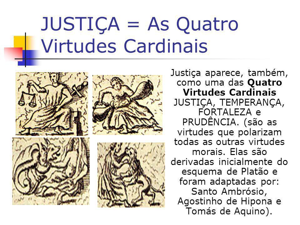 A JUSTIÇA EM SEU SENTIDO FILOSÓFICO Segundo O Dicionário de Política, A justiça é um fim social, da mesma forma que a igualdade ou a liberdade ou a democracia ou o bem-estar.