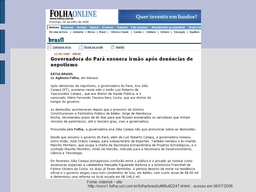 Ações contra o Nepotismo no Brasil