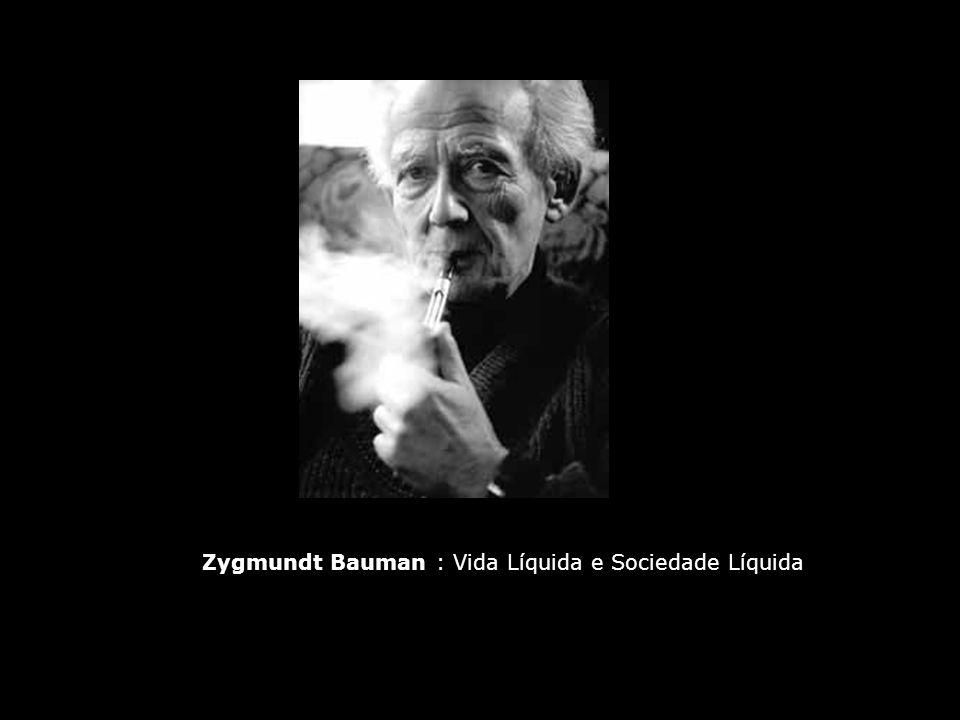 Zygmundt Bauman : Vida Líquida e Sociedade Líquida