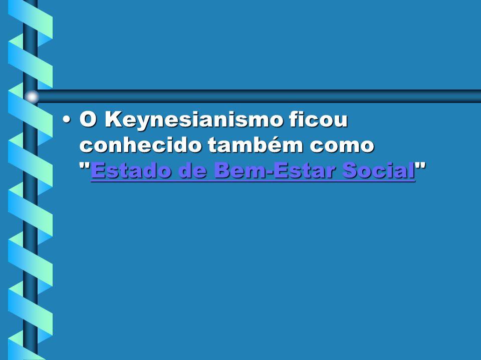 O Keynesianismo ficou conhecido também como Estado de Bem-Estar Social O Keynesianismo ficou conhecido também como Estado de Bem-Estar Social Estado de Bem-Estar SocialEstado de Bem-Estar Social