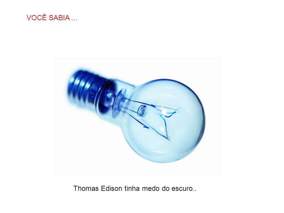 SABIAS QUE… Thomas Edison tinha medo do escuro.. VOCÊ SABIA...