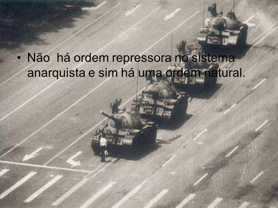 Não há ordem repressora no sistema anarquista e sim há uma ordem natural.