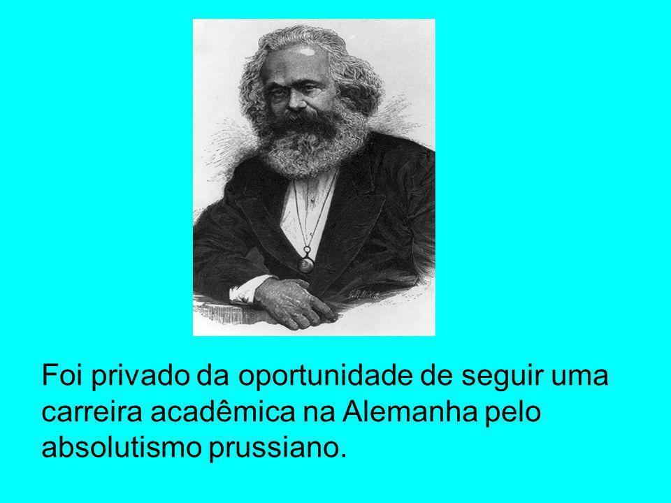 Se posicionou a favor do liberalismo como premissa para maturação das condições positivas e negativas da emancipação proletária.