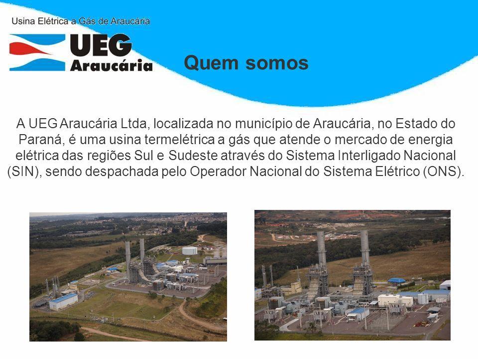 A UEG Araucária Ltda, localizada no município de Araucária, no Estado do Paraná, é uma usina termelétrica a gás que atende o mercado de energia elétri
