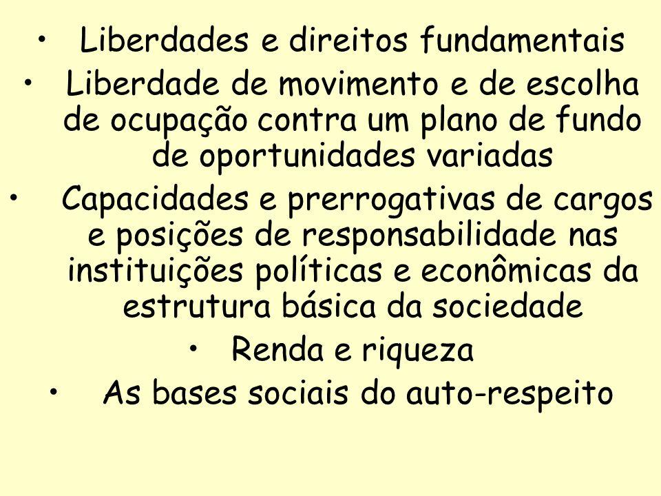 23 Liberdades e direitos fundamentais Liberdade de movimento e de escolha de ocupação contra um plano de fundo de oportunidades variadas Capacidades e