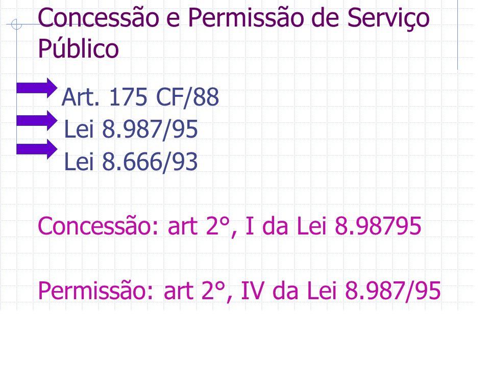 Concessão e Permissão de Serviço Público Art.