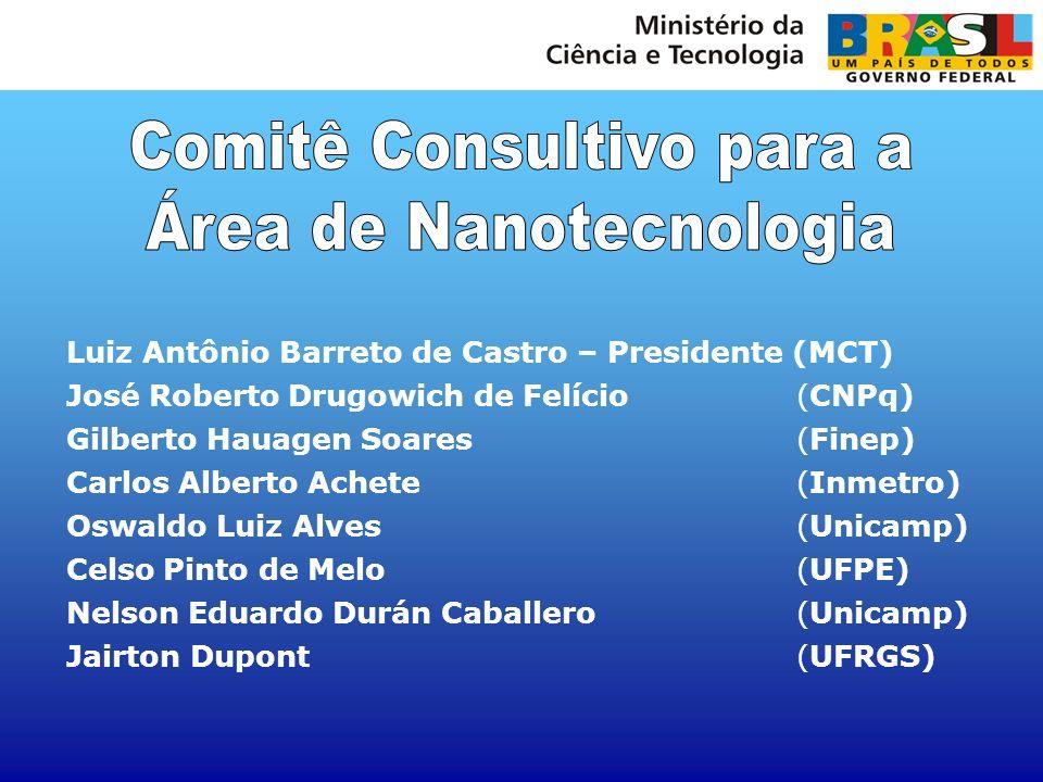 Luiz Antônio Barreto de Castro – Presidente (MCT) José Roberto Drugowich de Felício (CNPq) Gilberto Hauagen Soares (Finep) Carlos Alberto Achete (Inme