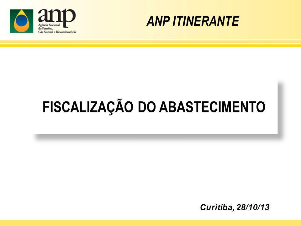 FISCALIZAÇÃO DO ABASTECIMENTO Curitiba, 28/10/13 ANP ITINERANTE