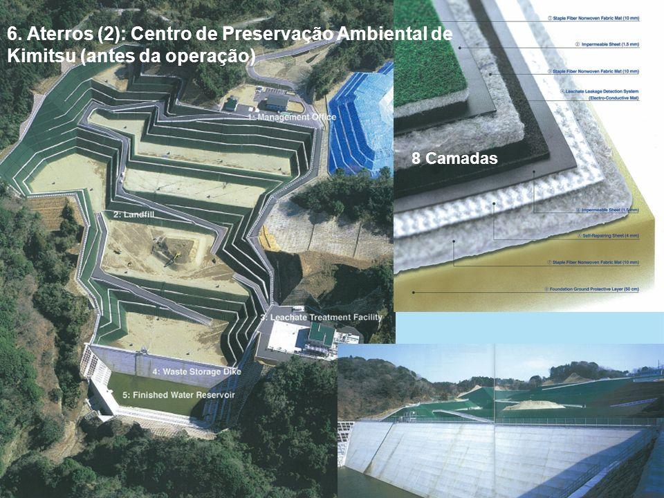 GOVERNO FEDERAL 6. Aterros (2): Centro de Preservação Ambiental de Kimitsu (antes da operação) 8 Camadas