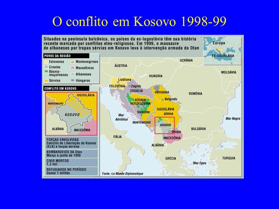 O conflito em Kosovo 1998-99