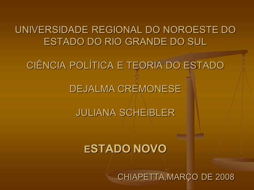 ESTADO NOVO ESTADO NOVO É como ficou conhecido o período da história republicana brasileira que vai 1937 a 1945, quando foi presidente do Brasil Getúlio Vargas.