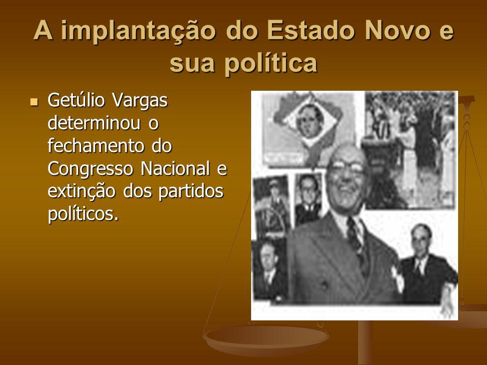 Ele outorgou constituição, que lhe conferia o controle total do poder executivo e permitiria nomear interventores nos estados, aos quais Getúlio deu autonomia na tomada de decisões.