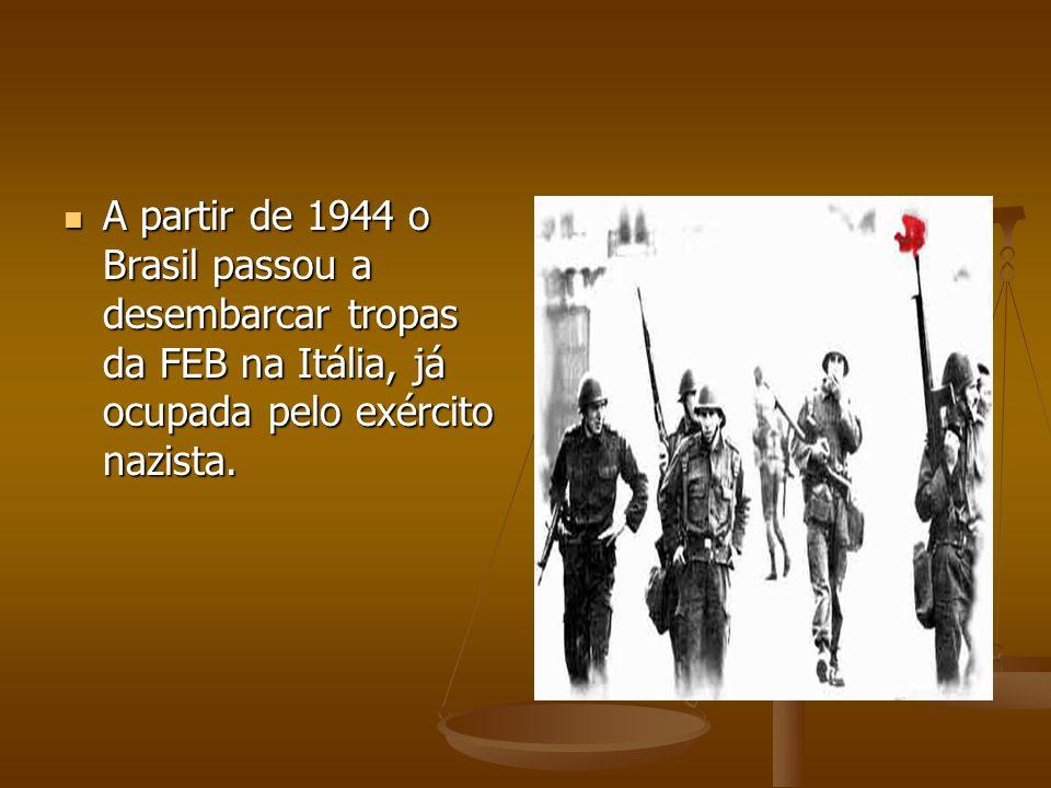 No plano político, com a derrota do totalitarismo nazi-fascista e nipônico e a vitória das democracias, o Estado Novo de Vargas estava condenado.
