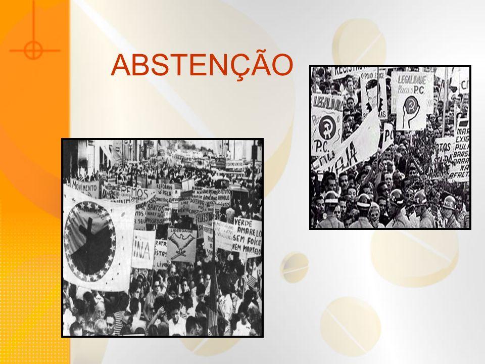 A crise na democracia no Brasil: deteriorização das condições de vida da população (baseado nos Índices de Desenvolvimento Humano) Vitullo diz que aceleram os processos de desinteresse e apatia política, refletido na fragmentação e volatilidade das opções eleitorais; tem suas origens nas regras instrumentais que ordenam as conformações da representação política - como é o caso do sistema de listas abertas - (...) que estimulam o crescimento do absenteísmo (Vitullo, 2000 ) Crise da democracia contribuição ao abstencionismo