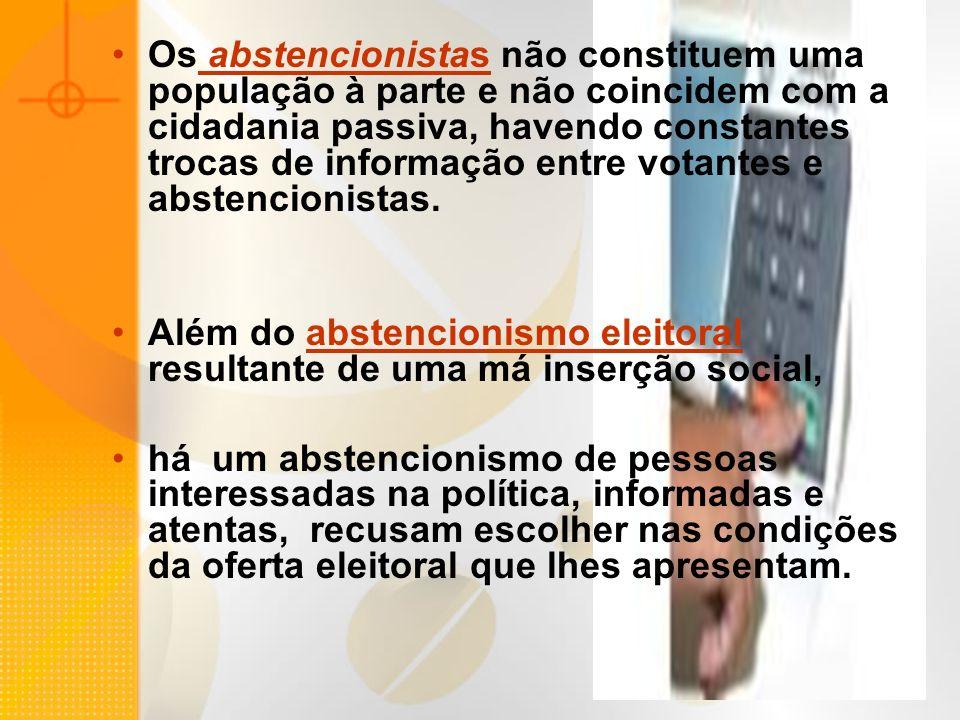 Observados os dados relativos a Europa, a maioria dos países da América do Sul e do Brasil em particular, em que pesem diferenças substanciais, há um fator comum, que é: os fatores político-institucional, a conformação institucional do sistema político; debilidade dos sistemas partidário; descrença nos partidos (e nas instituições democráticas), conseqüência uma crise de representação política.
