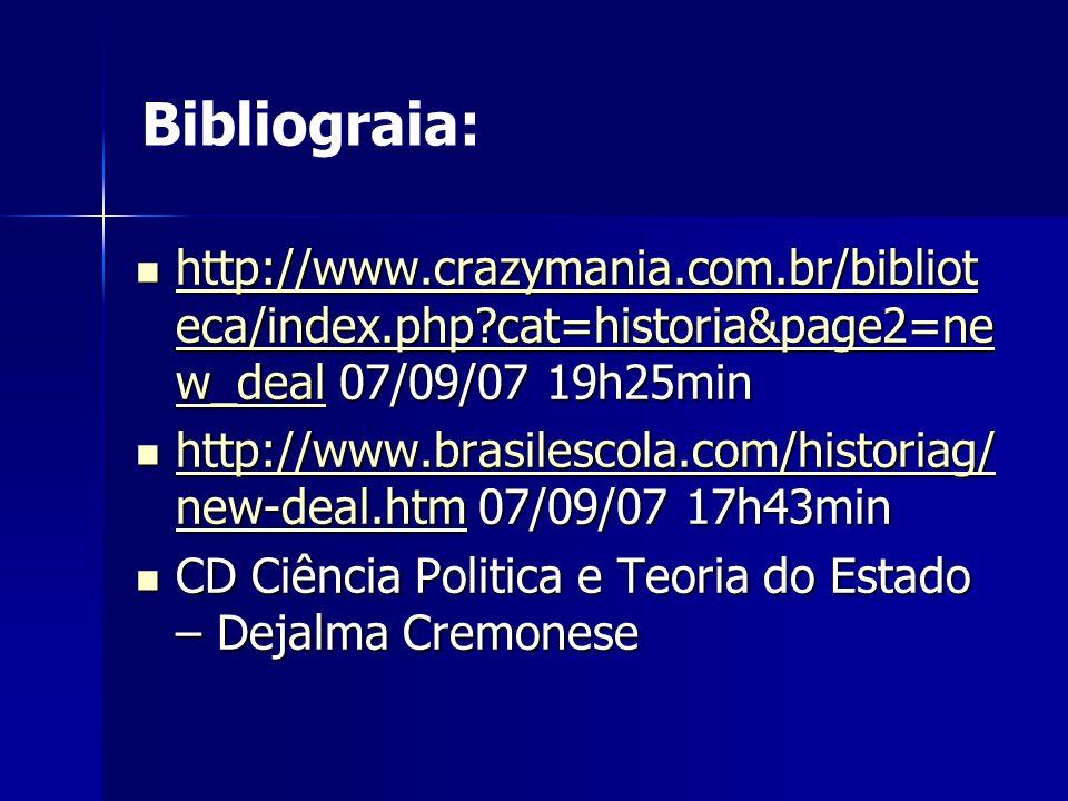 http://www.crazymania.com.br/bibliot eca/index.php cat=historia&page2=ne w_deal 07/09/07 19h25min http://www.crazymania.com.br/bibliot eca/index.php cat=historia&page2=ne w_deal 07/09/07 19h25min http://www.crazymania.com.br/bibliot eca/index.php cat=historia&page2=ne w_deal http://www.crazymania.com.br/bibliot eca/index.php cat=historia&page2=ne w_deal http://www.brasilescola.com/historiag/ new-deal.htm 07/09/07 17h43min http://www.brasilescola.com/historiag/ new-deal.htm 07/09/07 17h43min http://www.brasilescola.com/historiag/ new-deal.htm http://www.brasilescola.com/historiag/ new-deal.htm CD Ciência Politica e Teoria do Estado – Dejalma Cremonese CD Ciência Politica e Teoria do Estado – Dejalma Cremonese Bibliograia: FIM