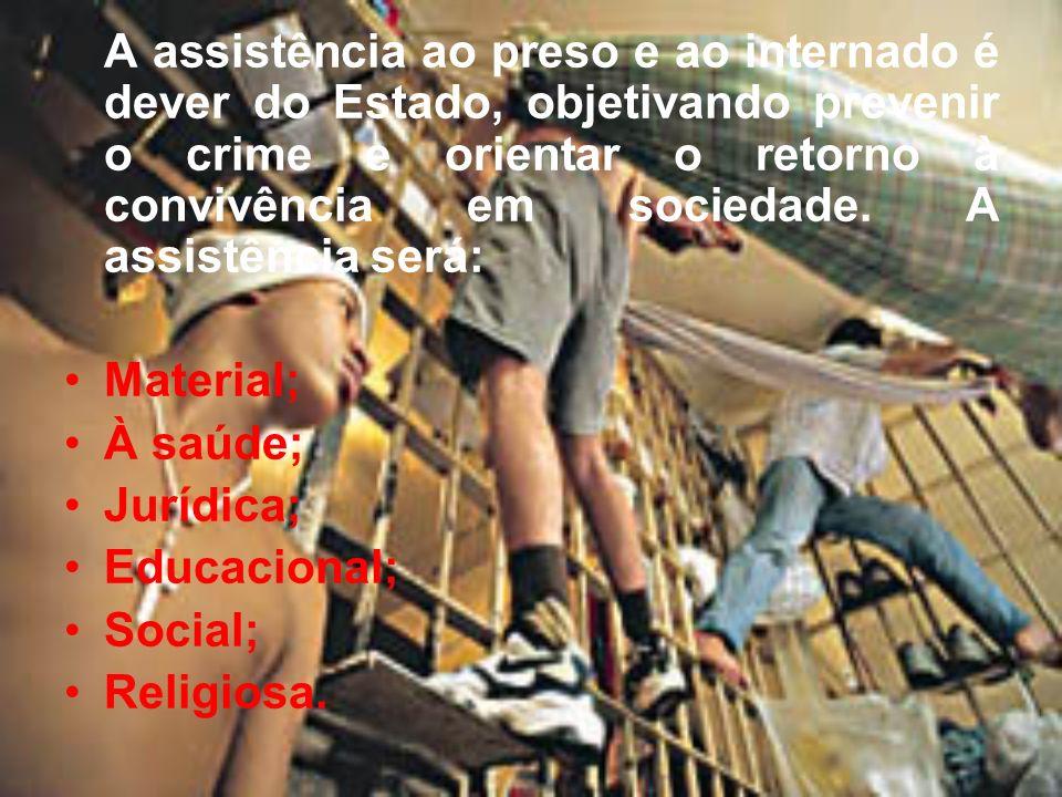 PENITENCIÁRIA: destina-se ao condenado à pena de reclusão, em regime fechado; COLÔNIA AGRÍCOLA: destina-se ao cumprimento da pena em regime semi- aberto; CASA DO ALBERGADO: destina-se ao cumprimento de pena privativa de liberdade, em regime aberto, e da pena de limitação de final de semana; HOSPITAL DE CUSTÓDIA E TRATAMENTO PSIQUIÁTRICO: destina-se aos inimputáveis e semi-imputáveis (doente mental); CADEIA PÚBLICA: destina-se ao recolhimento de presos provisórios (aguardam julgamento).