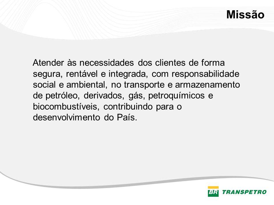 Visão A Transpetro, transportadora do Sistema Petrobras, será inovadora e multimodal, pronta para atuar no exterior de acordo com as necessidades da Petrobras.