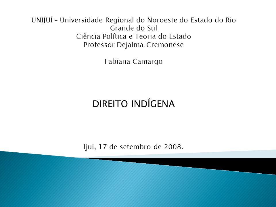 UNIJUÍ – Universidade Regional do Noroeste do Estado do Rio Grande do Sul Ciência Política e Teoria do Estado Professor Dejalma Cremonese Fabiana Cama