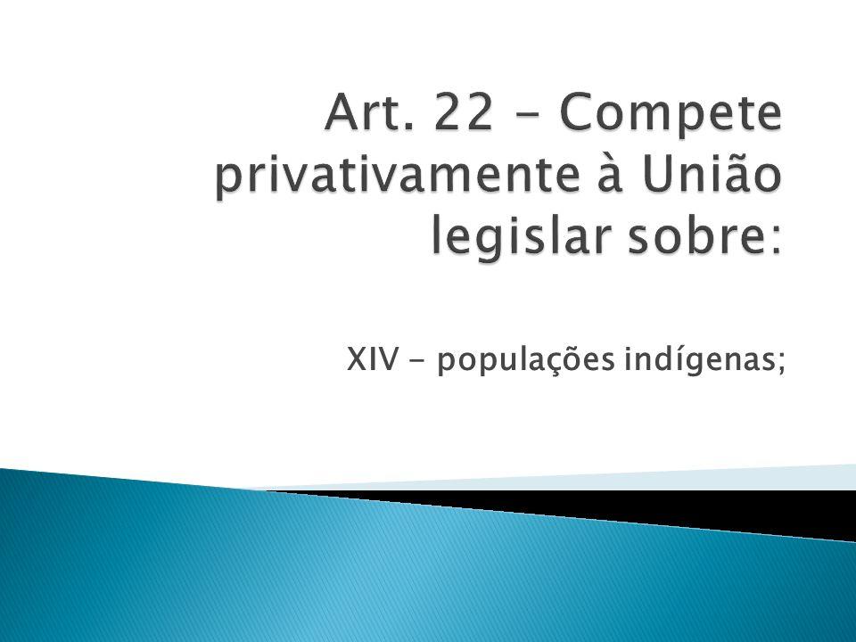 XIV - populações indígenas;