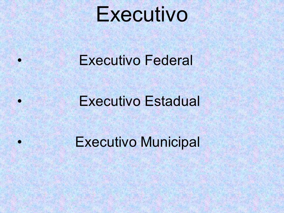 Executivo Executivo Federal Executivo Estadual Executivo Municipal