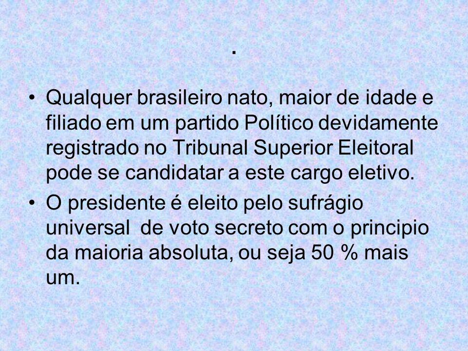 Qualquer brasileiro nato, maior de idade e filiado em um partido Político devidamente registrado no Tribunal Superior Eleitoral pode se candidatar a este cargo eletivo.