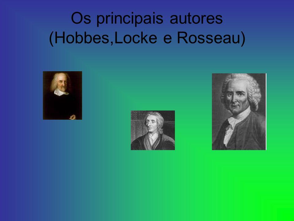 Os principais autores (Hobbes,Locke e Rosseau)