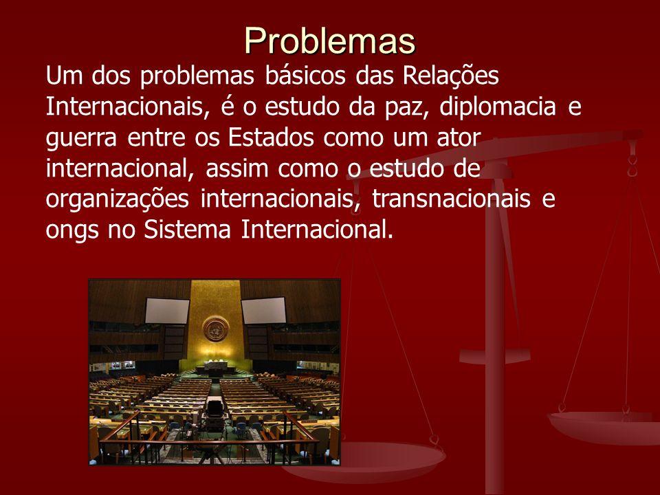 Um dos problemas básicos das Relações Internacionais, é o estudo da paz, diplomacia e guerra entre os Estados como um ator internacional, assim como o