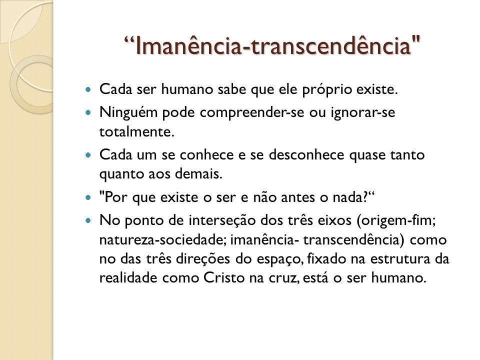 Imanência-transcendência