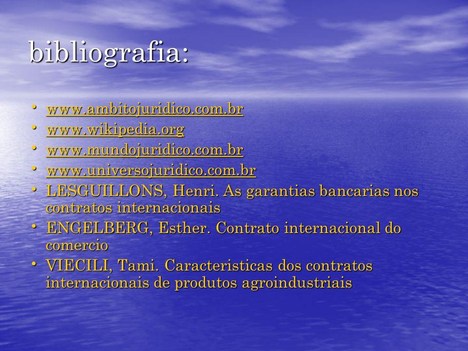 bibliografia: www.ambitojuridico.com.br www.ambitojuridico.com.br www.ambitojuridico.com.br www.wikipedia.org www.wikipedia.org www.wikipedia.org www.