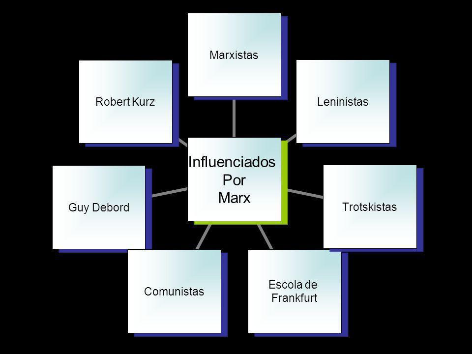Influenciados Por Marx MarxistasLeninistasTrotskistas Escola de Frankfurt Comunistas Guy Debord Robert Kurz