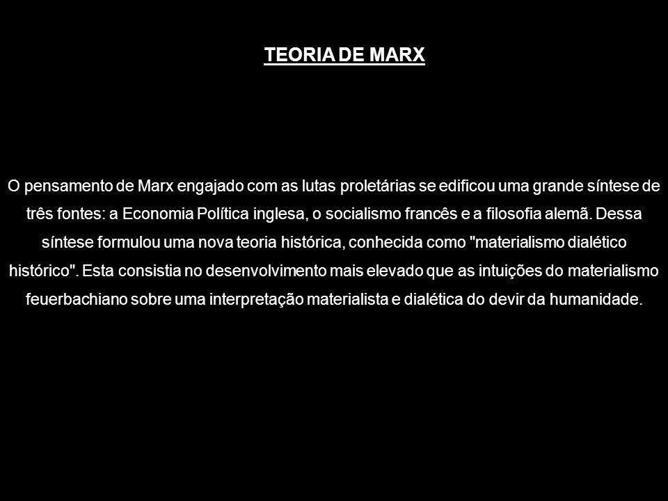 O pensamento de Marx engajado com as lutas proletárias se edificou uma grande síntese de três fontes: a Economia Política inglesa, o socialismo francê
