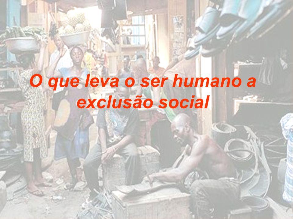 O que leva o ser humano a exclusão social