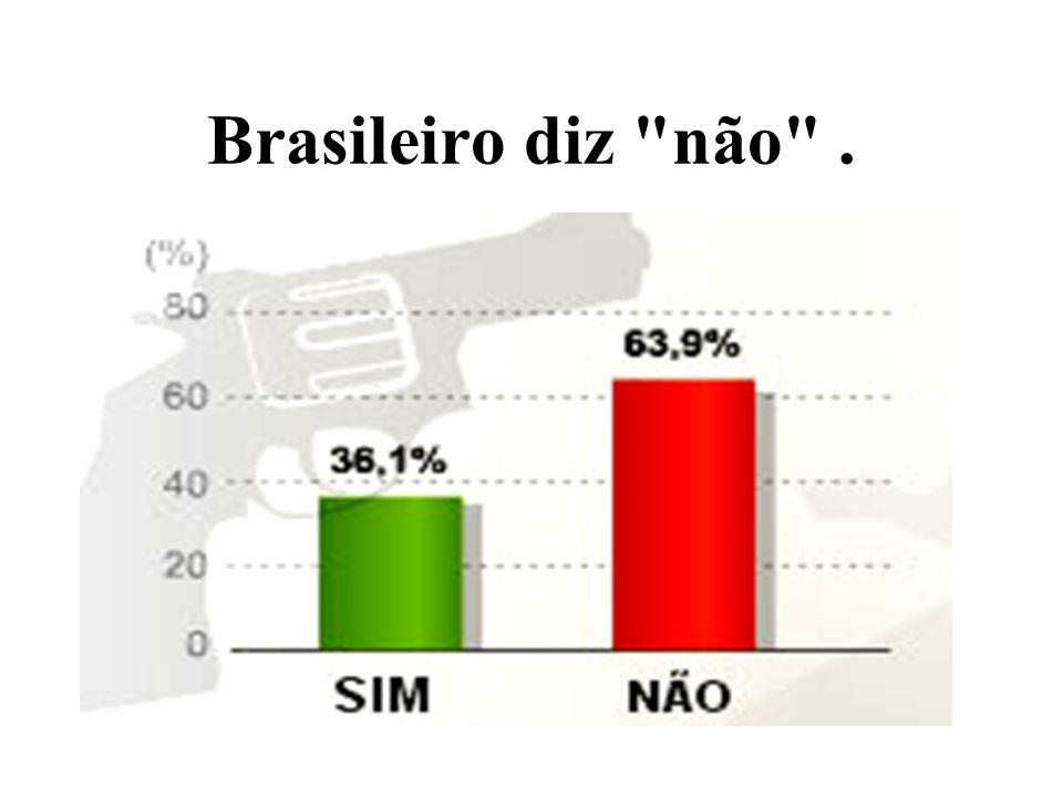 Brasileiro diz não .