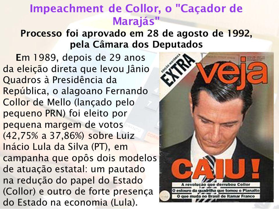 Em 1989, depois de 29 anos da eleição direta que levou Jânio Quadros à Presidência da República, o alagoano Fernando Collor de Mello (lançado pelo peq