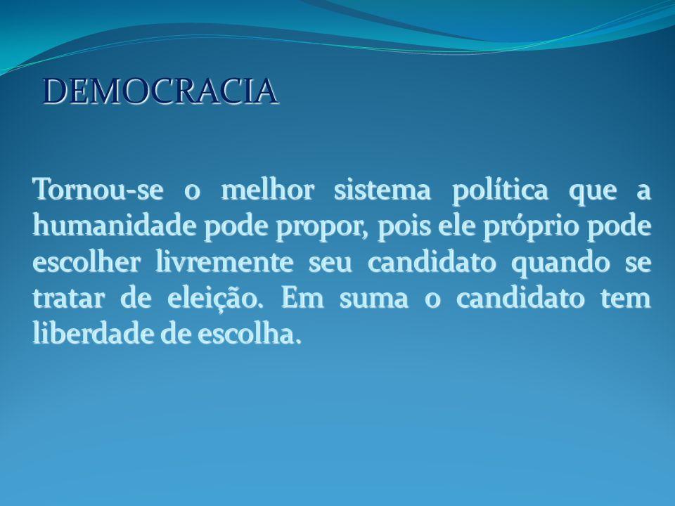 DEMOCRACIA A regra que norteia a democracia é a da maioria, onde são consideradas decisões coletivas, as mesmas são tomadas pela maioria daqueles a quem compete tomà-las.