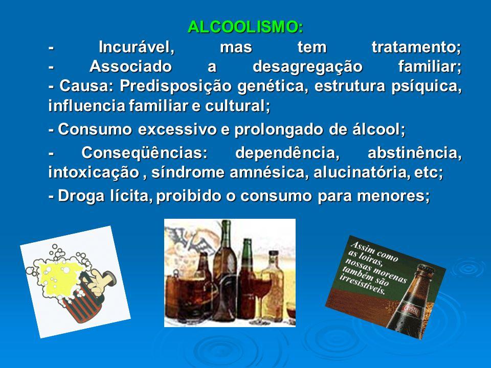 HIPÓTESES: HIPÓTESES: - Quanto a droga influencia no comportamento humano; - A condição sócio-econômica distingue na propensão do uso e consumo de dro