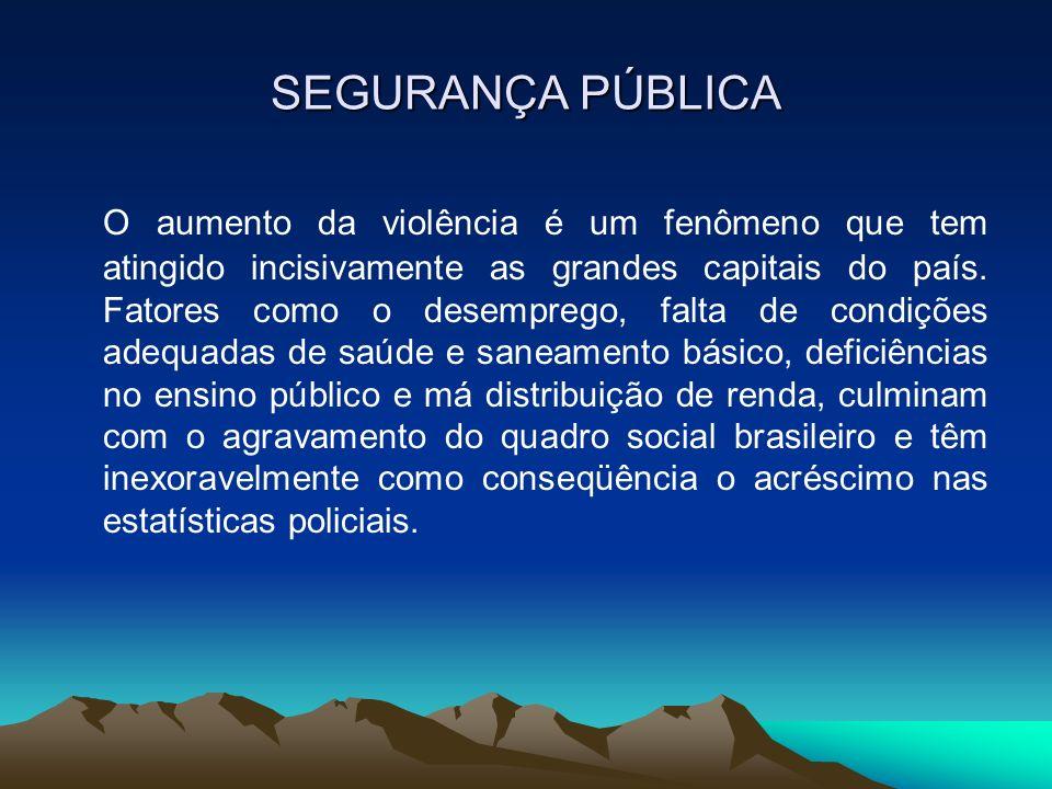 A CONSTITUIÇÃO FEDERAL AFIRMA: A segurança pública, dever do estado, direito e responsabilidade de todos, é exercida para a preservação da ordem pública e da incolumidade das pessoas e do patrimônio.