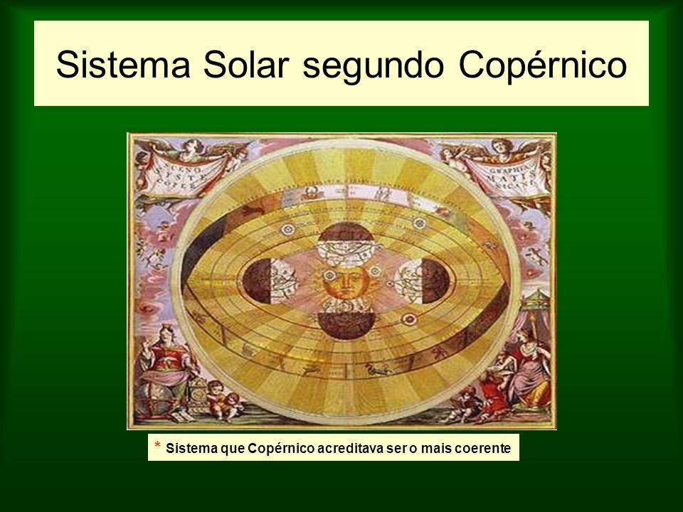 Sistema Solar segundo Copérnico * Sistema que Copérnico acreditava ser o mais coerente