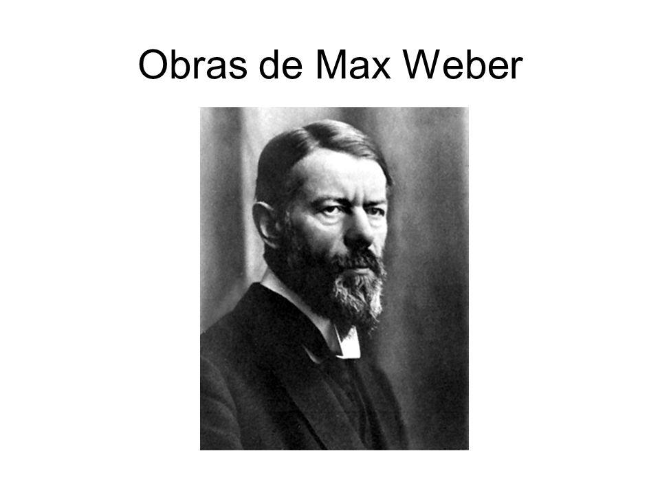 Obras de Max Weber
