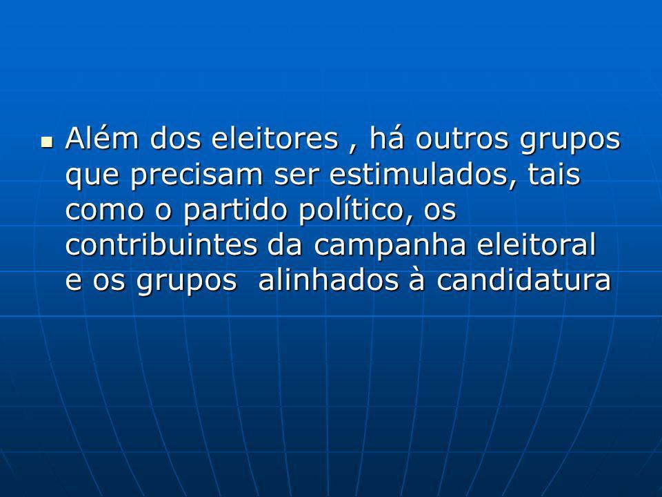 O marketing é uma técnica, uma arma que, na democracia brasileira, aos poucos vem substituindo todos os demais métodos político-eleitorais O marketing é uma técnica, uma arma que, na democracia brasileira, aos poucos vem substituindo todos os demais métodos político-eleitorais