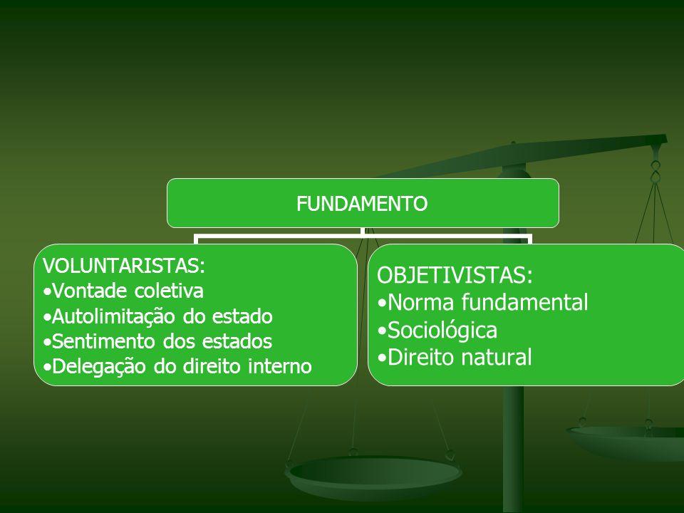 SUJEITOS INTERNACIONAIS: Conceito: entes destinatários das normas jurídicas internacionais.
