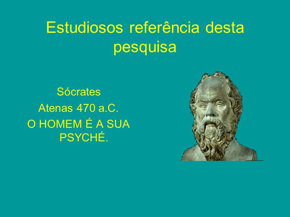 Estudiosos referência desta pesquisa Sócrates Atenas 470 a.C. O HOMEM É A SUA PSYCHÉ.