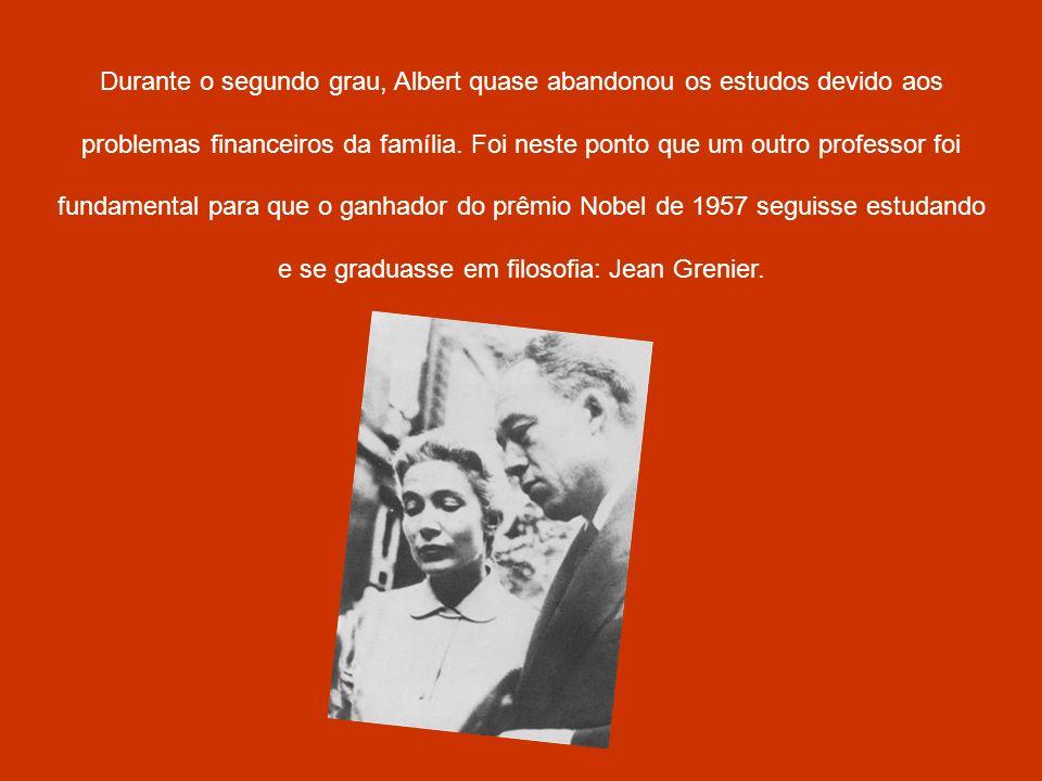 Durante o segundo grau, Albert quase abandonou os estudos devido aos problemas financeiros da família. Foi neste ponto que um outro professor foi fund
